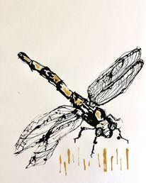 Insekten, Libelle, Malerei