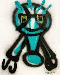 Graffiti, Sprühen, Charakter, Malerei