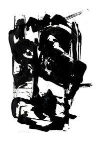 Mann, Alt, Schwarz, Malerei