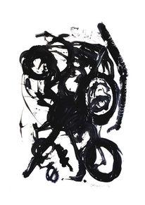Farben, Schwarz, Abstrakt, Malerei