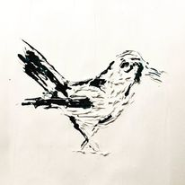 Vogel, Silikon, Malerei
