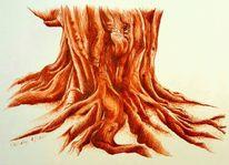 Sienna, Federzeichnung, Monochrom, Tuschezeichnung