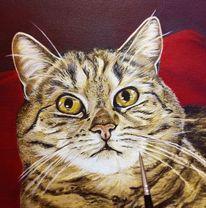 Tiermalerei, Wip, Animalpainting, Rot