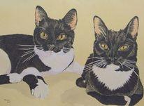 Katze, Auftragsmalerei, Katzenportrait, Tiere