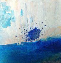 Schicht, Blau, Struktur, Malerei