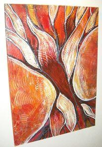 Rot, Gemälde, Acrylmalerei, Modern