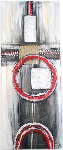 Malen, Malerei, Acrylmalerei, Mischtechnik