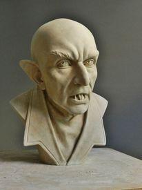 Vampir, Ton, Skulptur, Plastik