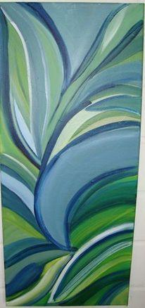 Schwingen, Beruhigend, Grünblau, Malerei