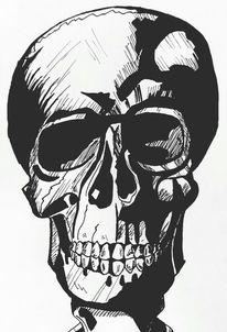 Schädel, Körper, Anatomisch, Knochen