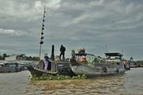 Reise, Wasser, Markt, Vietnam