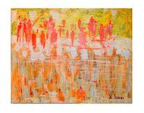 Versailles, Acrylmalerei, Gelb, Farben