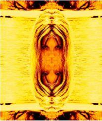 Frau, Gelb, Weber, Oberfläche
