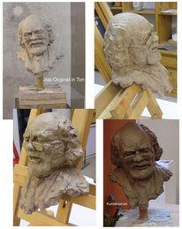 Kopf, Bronze, Schriftsteller, Skulptur
