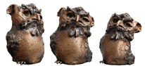 Vogel der weisheit, Durchblick, Bronze, Skulptur
