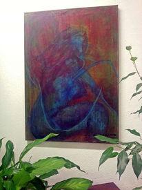 Di vora anneliese, Rot, Sgrafitto, Blau