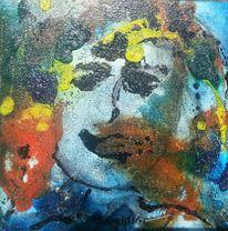 Portrait, Bunt, Mosaikbild henndorf, Mischtechnik