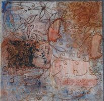 Bunt, Relief, Strukturmalerei, Abstrakt