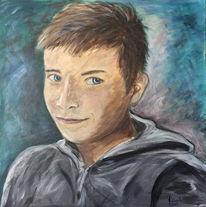 David portrait männlich, Malerei