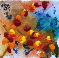 Lampion, Lampionblume, Strauch, Malerei