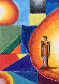 Menschen, Licht, Farben, Malerei