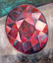 Feuer, Rubin, Rot, Malerei