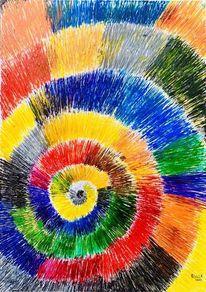 Farben, Formen, Spirale, Licht