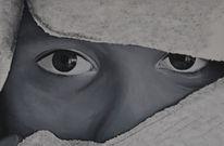 Gesicht, Tuch, Acrylmalerei, Kopftuch