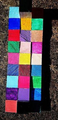 Quadrat, Farbfeldmalerei, Farbharmonie, Kunsthandwerk