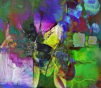 Formen, Violett, Digital, Leinen