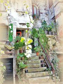 Romatisch, Kroatien, Altes mauerwerk, Idylle