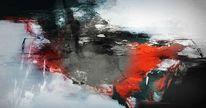 Wasser, Abstrakt, Rot schwarz, Brandung