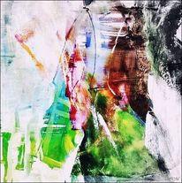 Malerei, Abstrakt, Fusion, Bunt