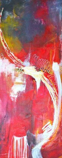 Spuren, Gelb, Acrylmalerei, Linie
