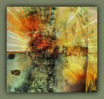 Licht, Bildbearbeitung, Orange, Seele