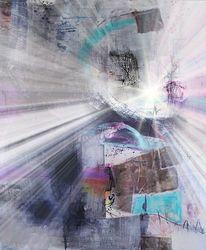 Acrylmalerei, Strahlen, Verfremden, Engstirnig