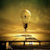 Keller, Freiheit, Glühlampe, Licht