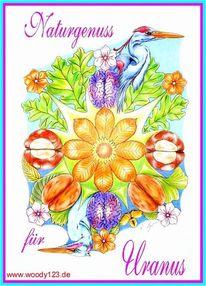 Rad des schicksals, Reiher, Wachstum, Blumen