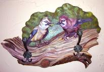 Vogel, Weibchen, Mdf, Relief