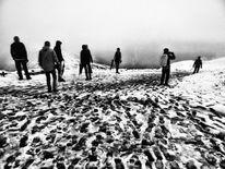 Nebel, Berge, Schwanken, Wanderung
