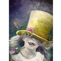 Ölmalerei, Gelb, Gemälde, Mädchen