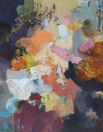 Abstrakt, Ölmalerei, Mischtechnik, Malerei
