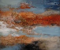 Malerei, Abstrakt, Mischtechnik, Acrylmalerei