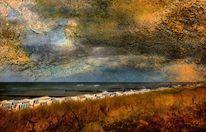 Strand, Himmel, Struktur, Landschaft