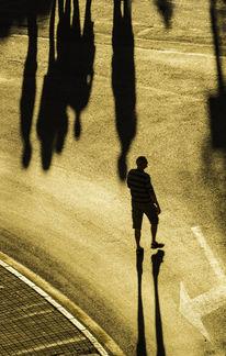 Straße, Mann, Schatten, Menschen