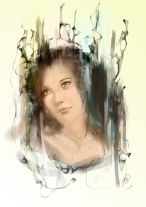 Digital, Krita, Portrait, Digitale kunst