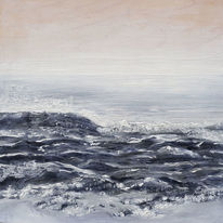 Welle, Horizont, Nebel, Natur