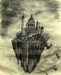 Kohlezeichnung, Zeichnung, Traum, Zeichnungen