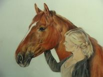 Pferdeportrait, Malerei, Freundschaft