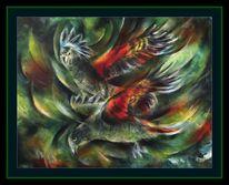 Vogel, Keas, Keas gamalt, Malerei